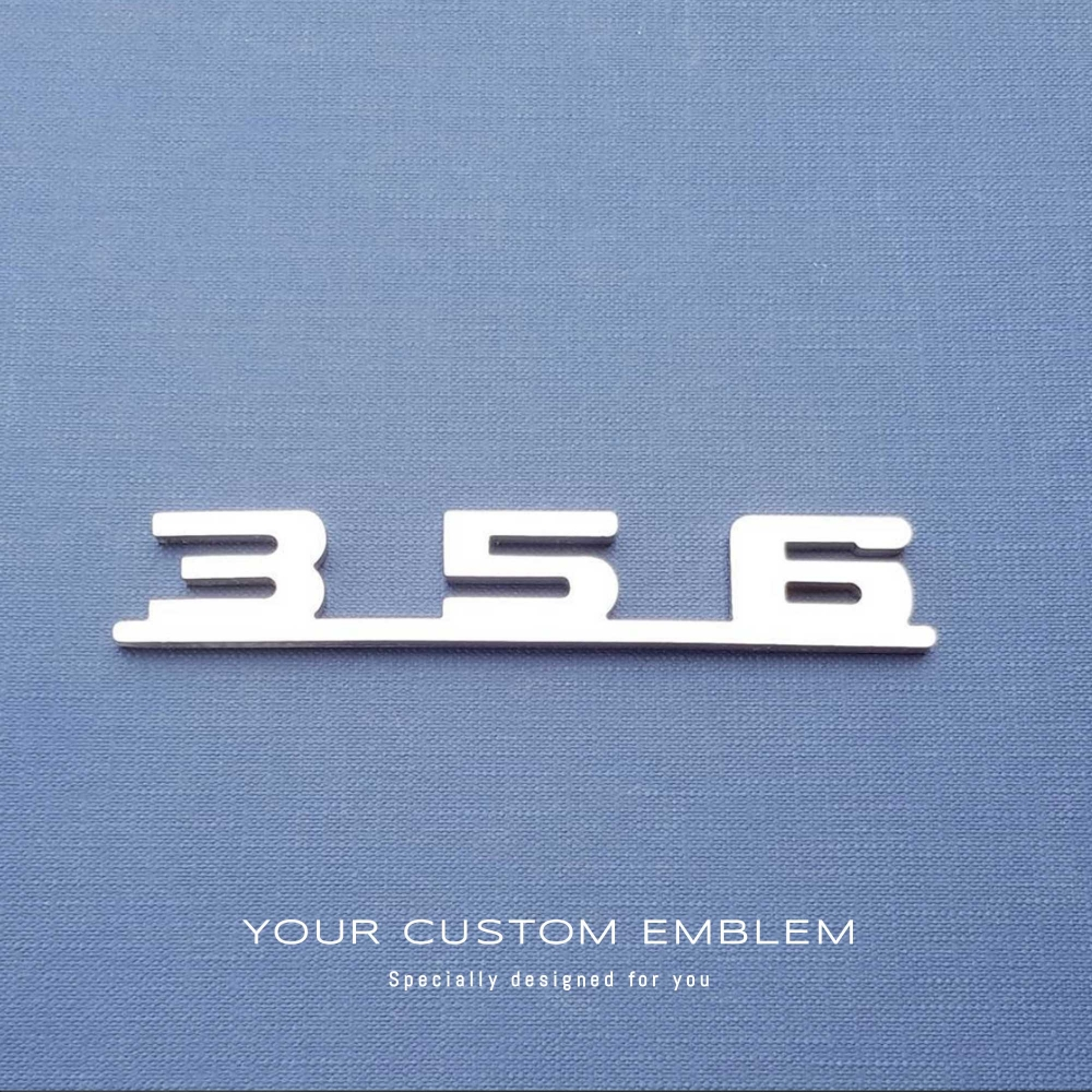 Porsche '356' Speedster Custom made Emblem in 100% Stainless Steel - Design done as requested