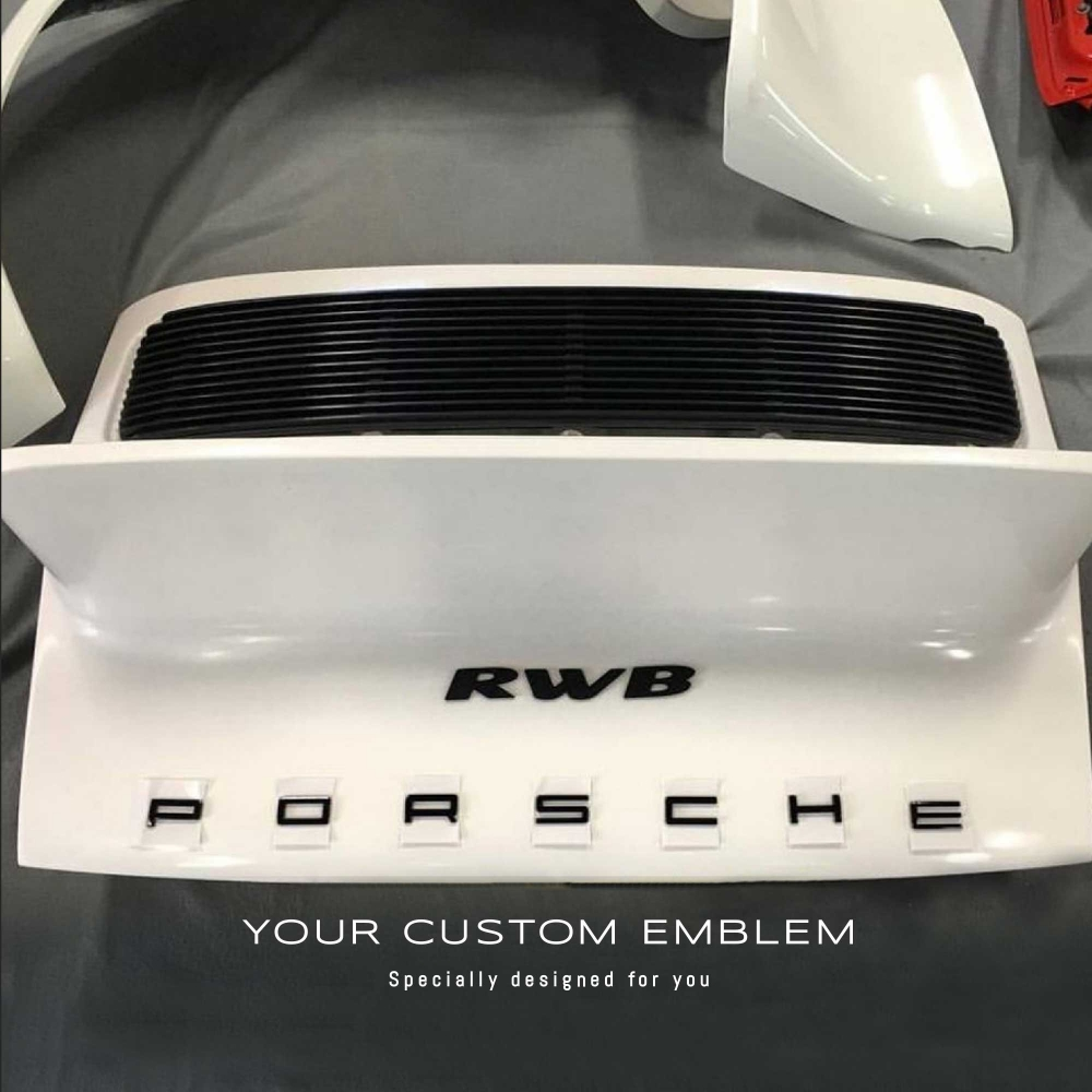 Another 'RWB' Emblem painted in black ready to be sticked - Design done as requested