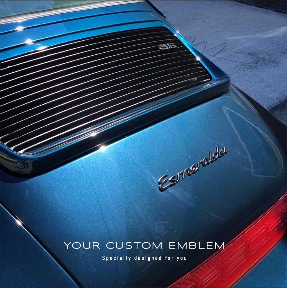 Esmeralda custom made Emblem painted in Satin Black - Design done as requested