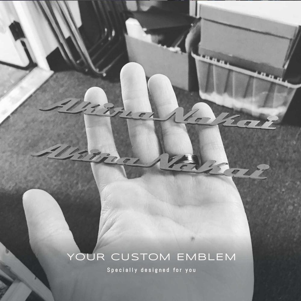 Akira Nakai Custom made Emblem in 100% Stainless steel