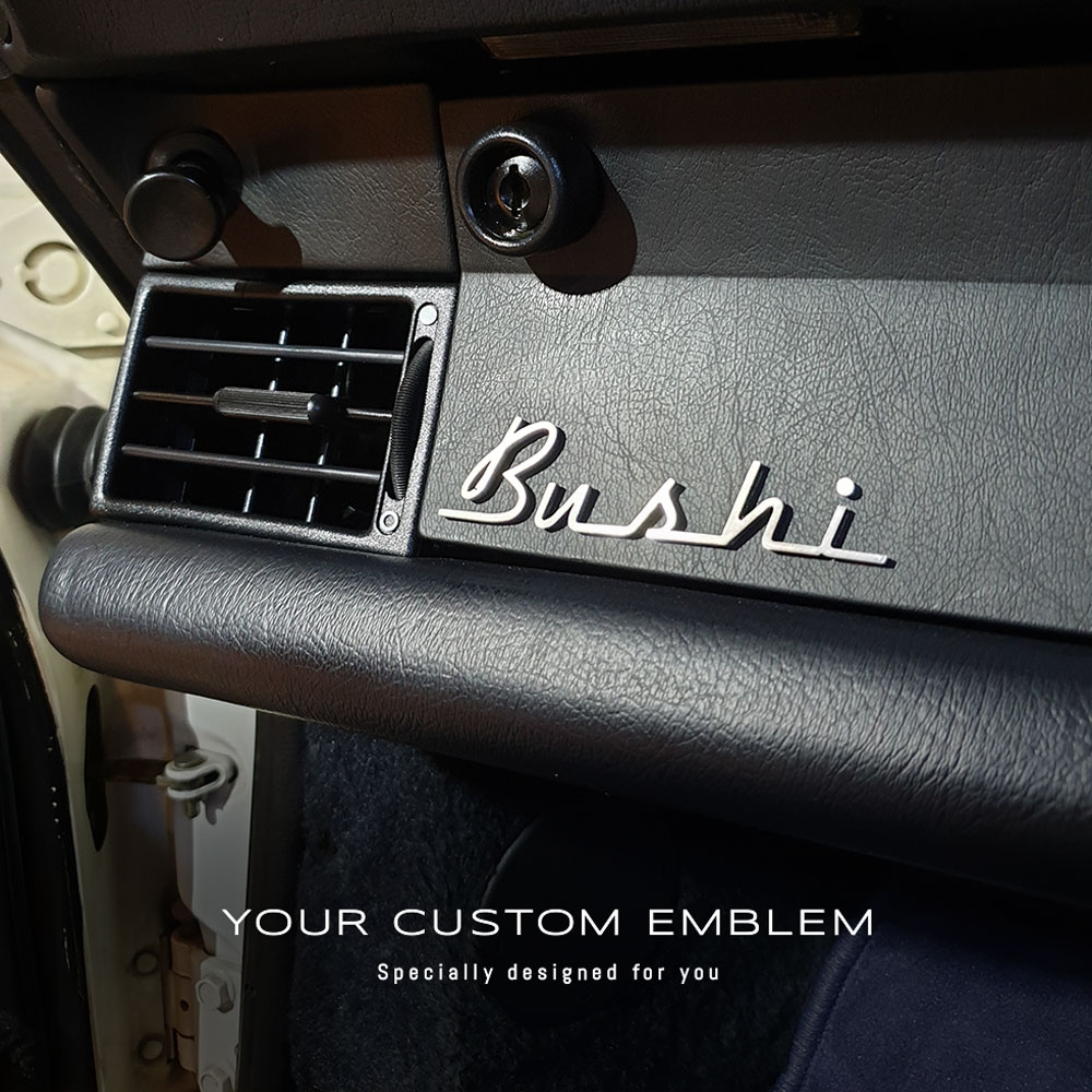 Bushi Emblem in 100% Stainless steel - Custom design and size done as requested