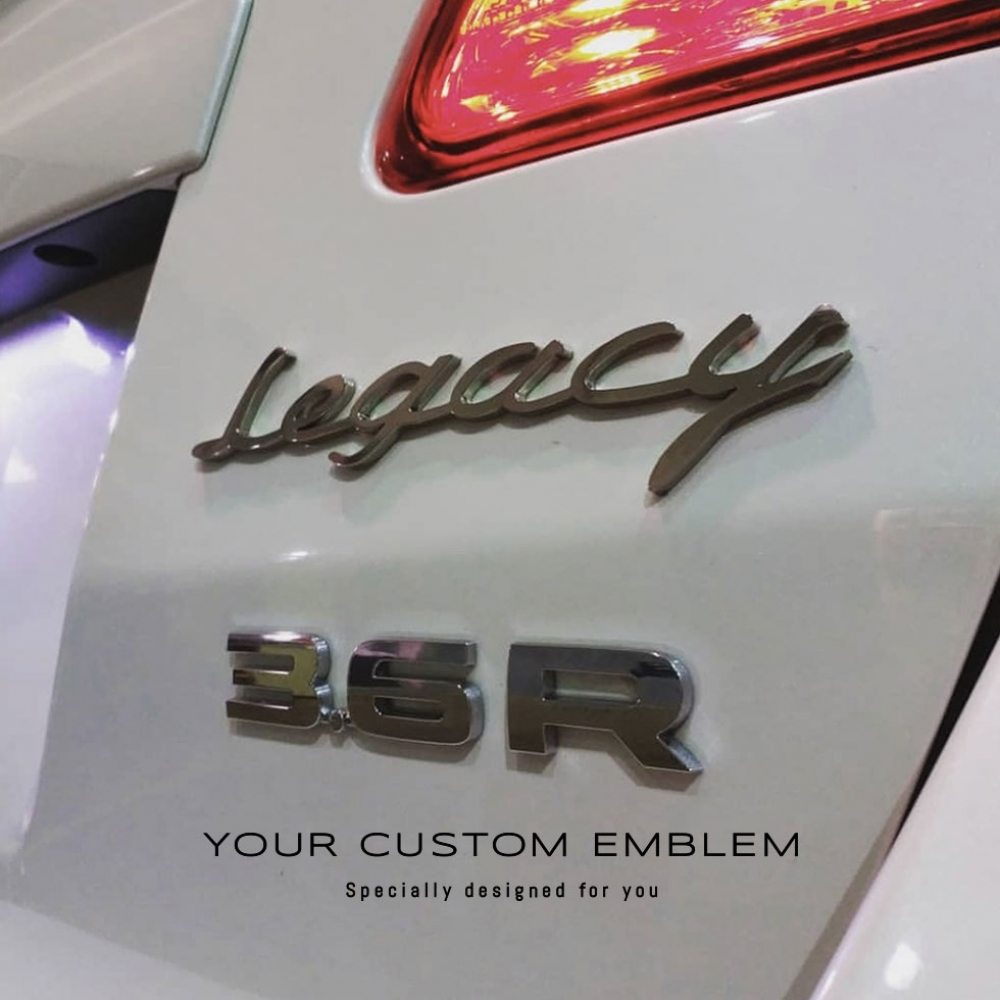 Legacy Custom made Emblem in stainless steel mirror finishing - Custom design done as requested