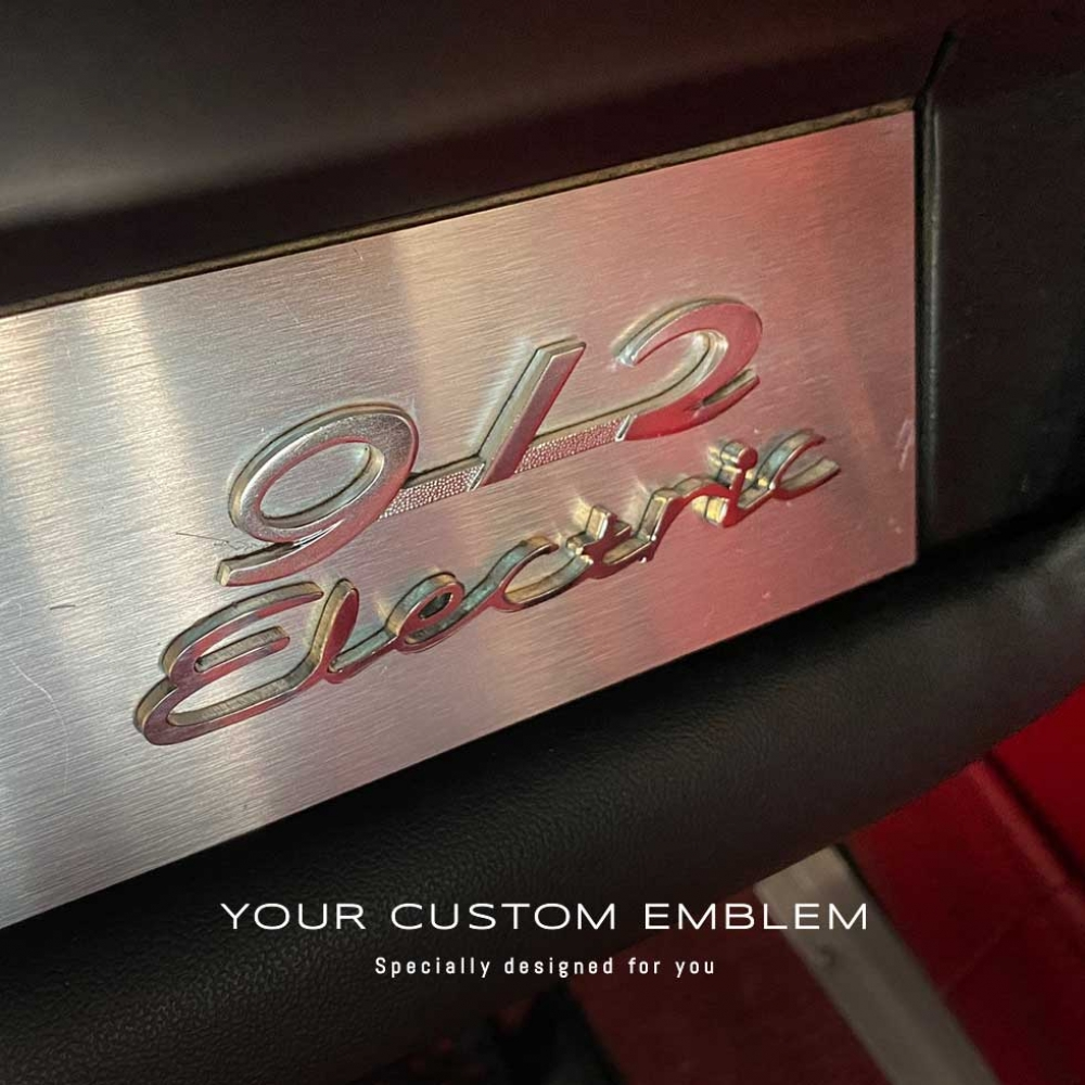 Electric Emblem in stainless steel - Design done as requested