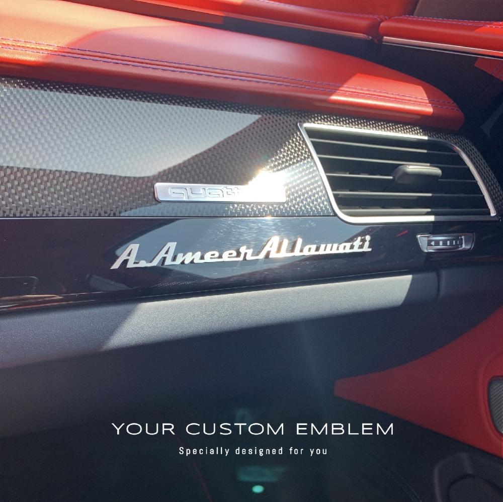 A.Ameer Al lawati Emblem in 100% Stainless Steel matt finishing