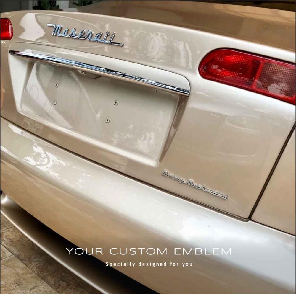 Donny Reekmans Custom made Emblem in 100% stainless steel matt finishing