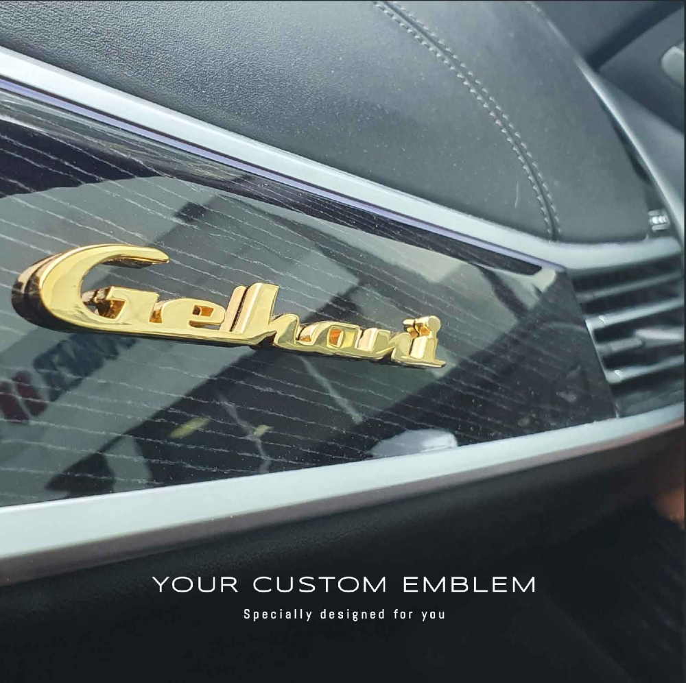 Gehani Gold Plated Emblem installed on his BMW X7