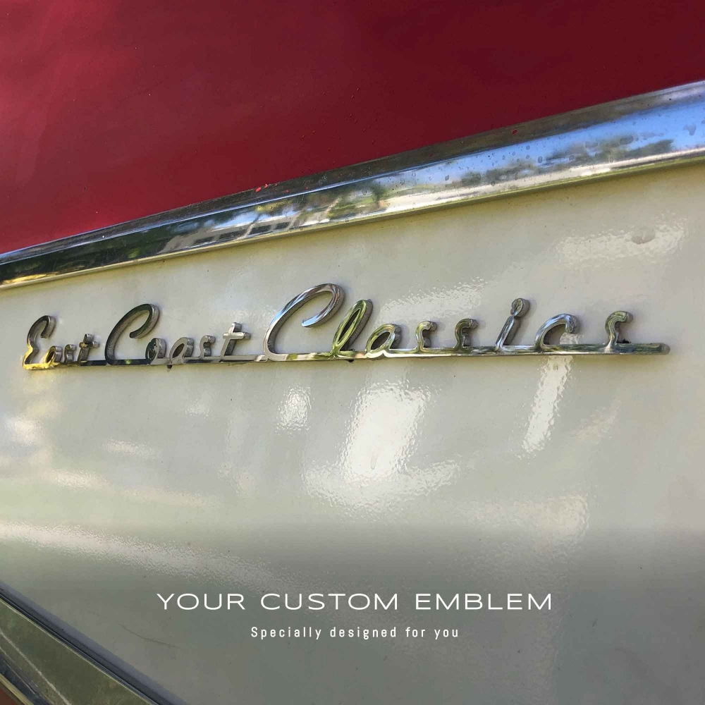 East Coast Classics Custom made Emblem in 100% stainless steel mirror finishing - design as requested
