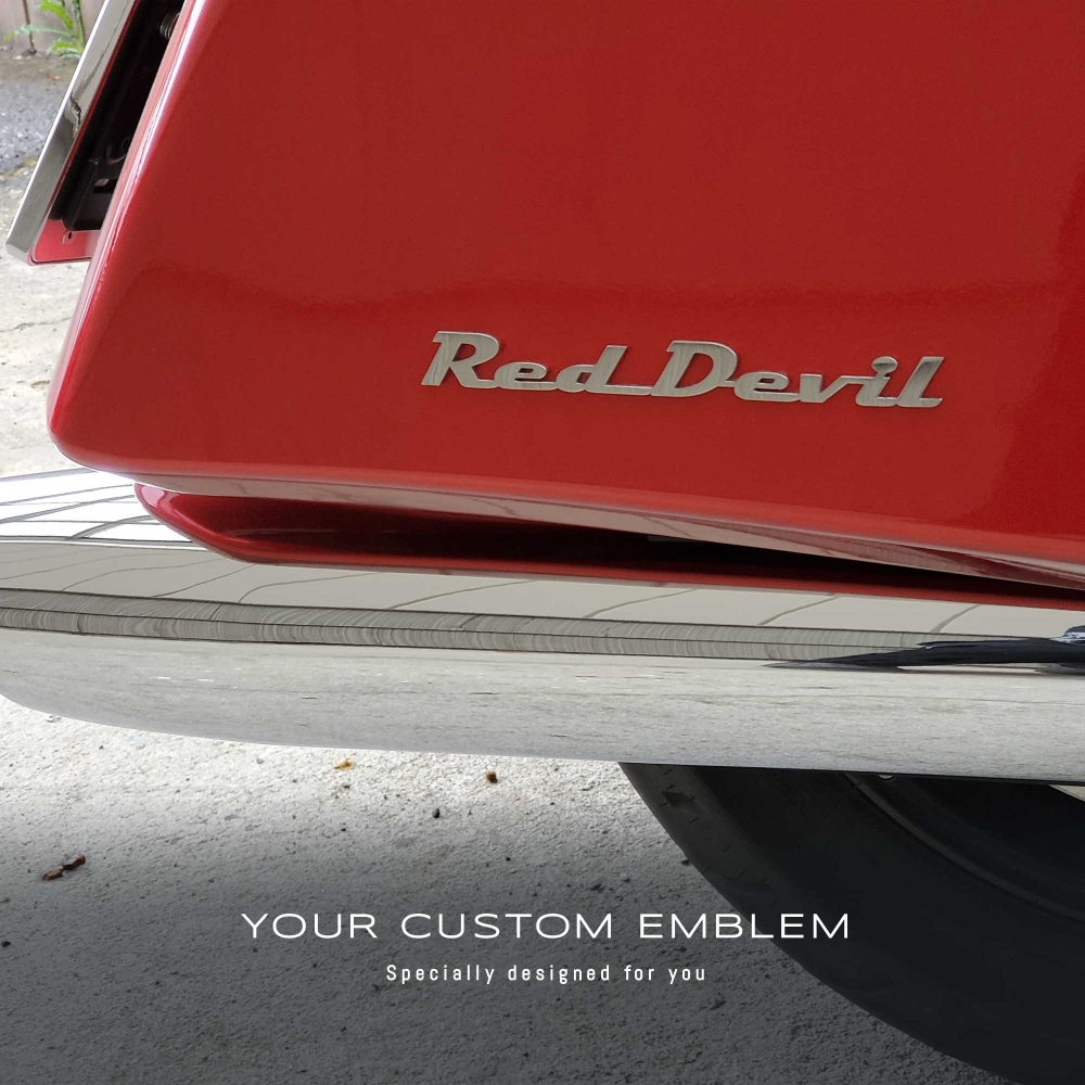 Red Devil Emblem in stainless steel mirror finishing finishing