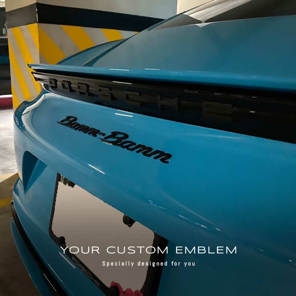 Bamm - Bamm Emblem painted in gloss black - Design done as requested