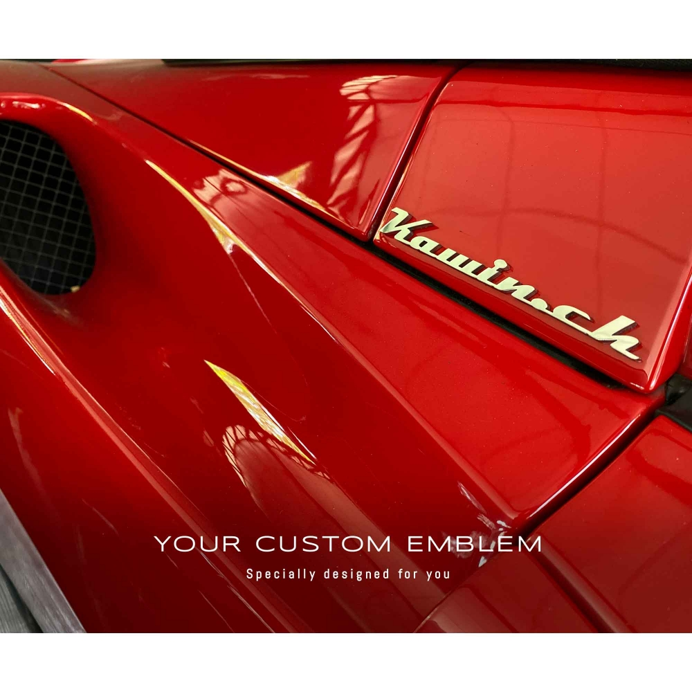 Kawin.ch Emblem installed on his Ferrari
