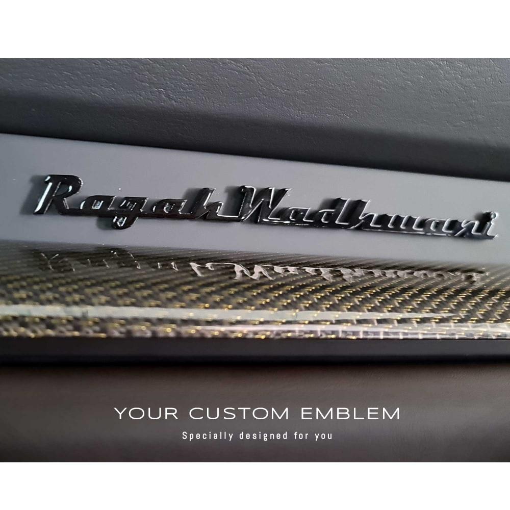 Rajah Wadhwani Painted Emblem installed on the Porsche 992 TECHART