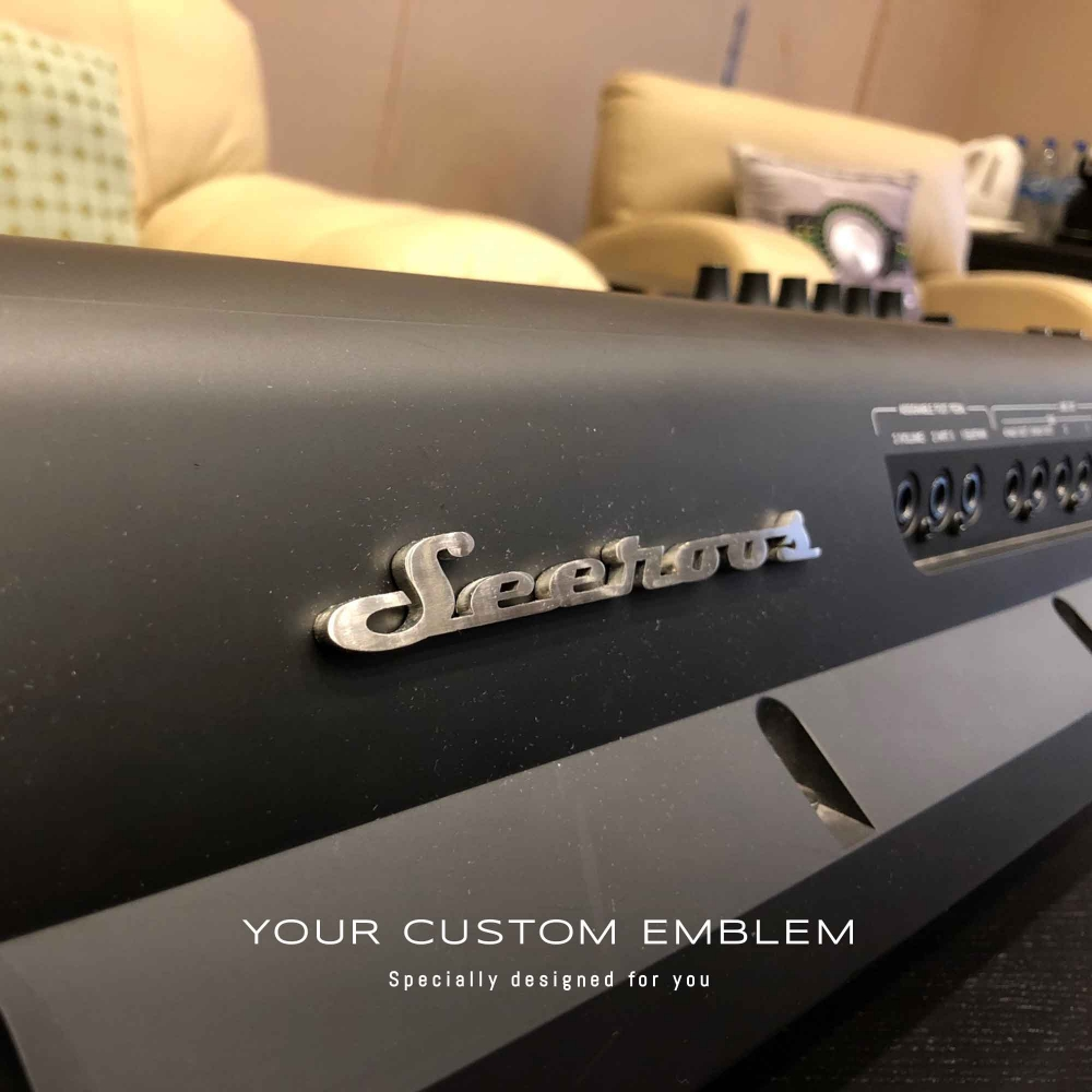 Seeroos Emblem in stainless steel matt finishing