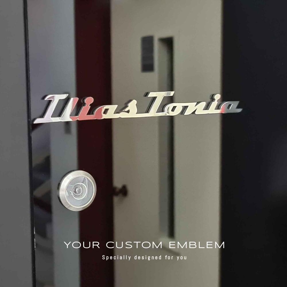 Ilias Tonia Custom Emblem in stainless mirror finishing