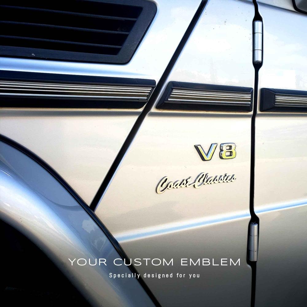 Coast Classics Emblem installed on the Mercedes-Benz G class