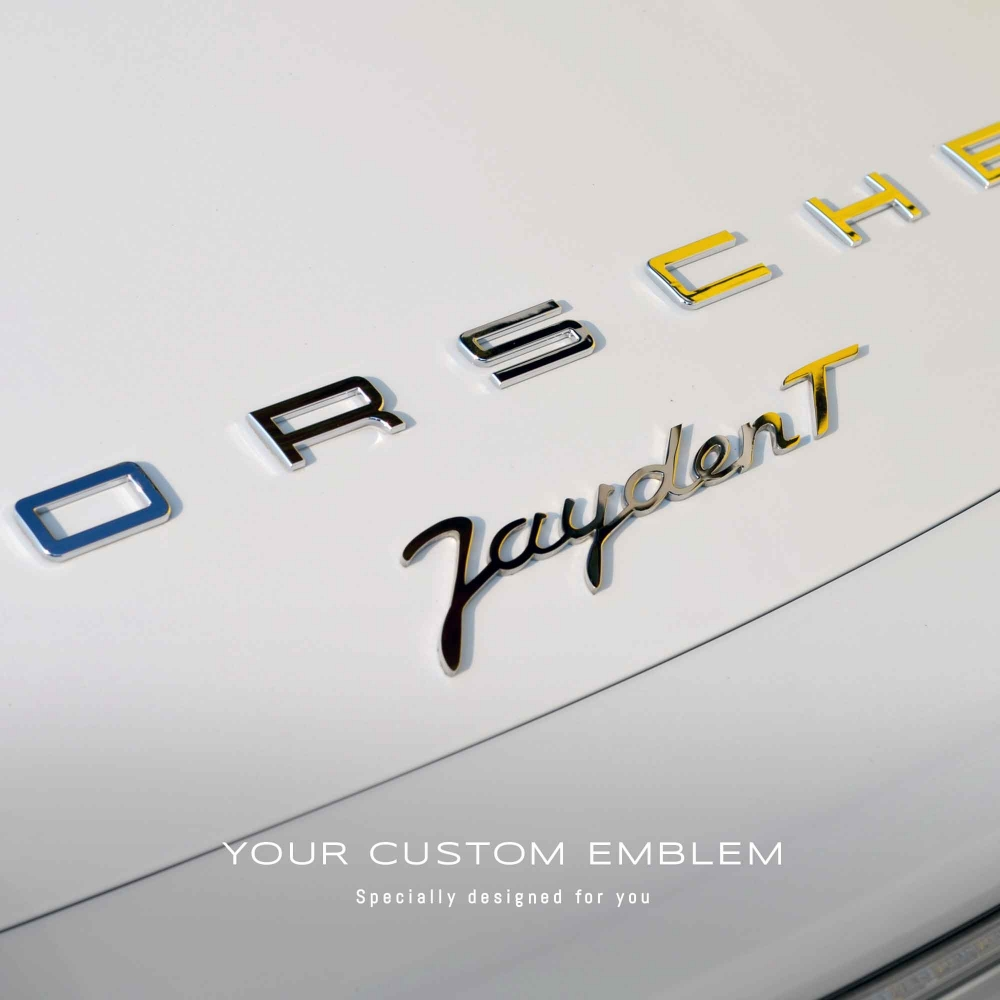 Jayden T Emblem in stainless steel mirror finishing - Design and size done as requested