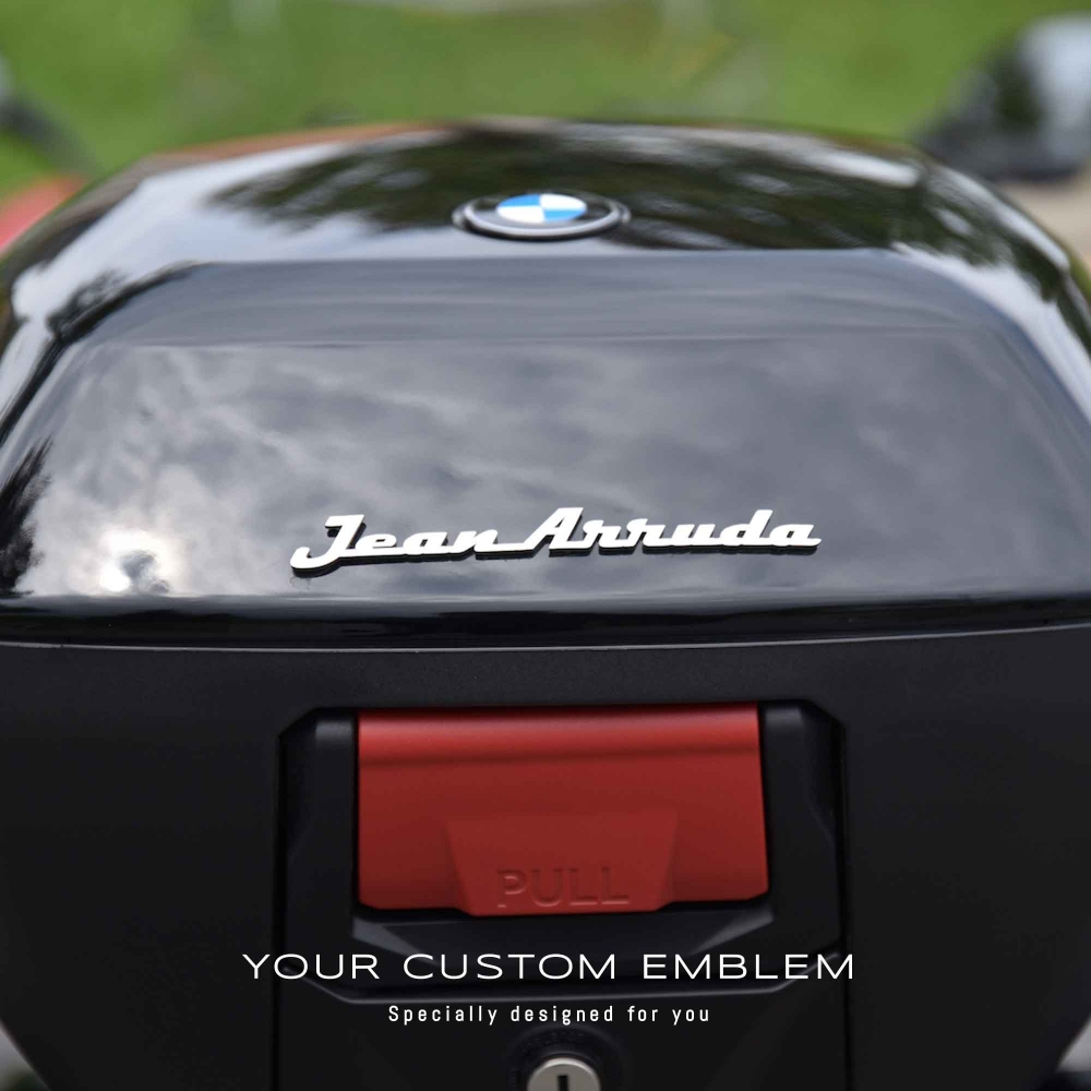 Jean Arruda Emblem in stainless steel matt finishing