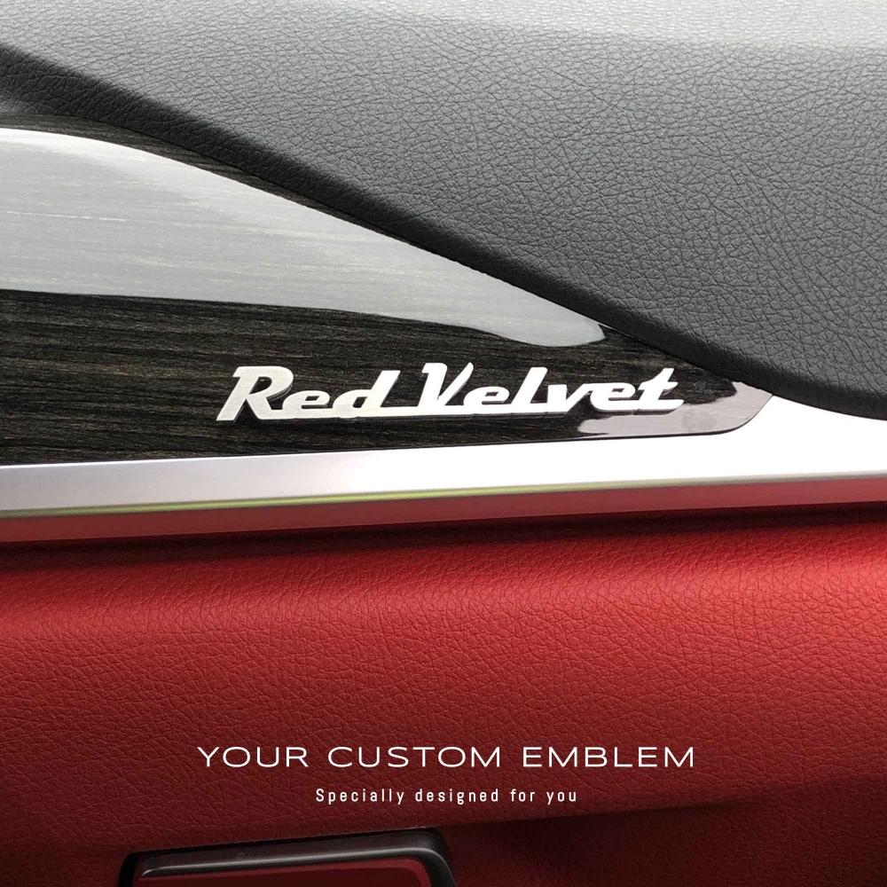 Red Velvet Emblem in stainless steel matt finishing