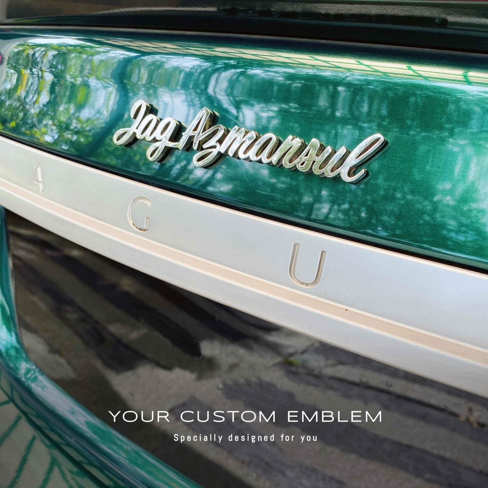 Jag Azmansul Emblem in stainless steel mirror finishing - design done as requested