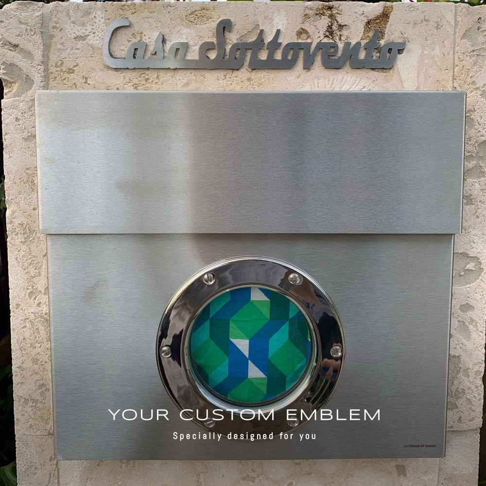 Casa Sottovento Emblem in stainless steel matt finishing - Bigger size done as requested