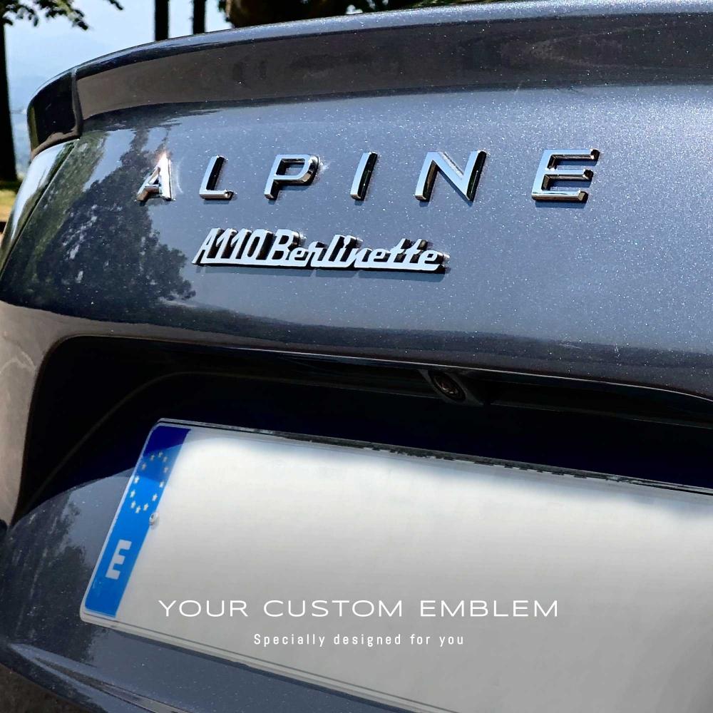 A110 Berlinette Emblem in stainless steel mirror finishing