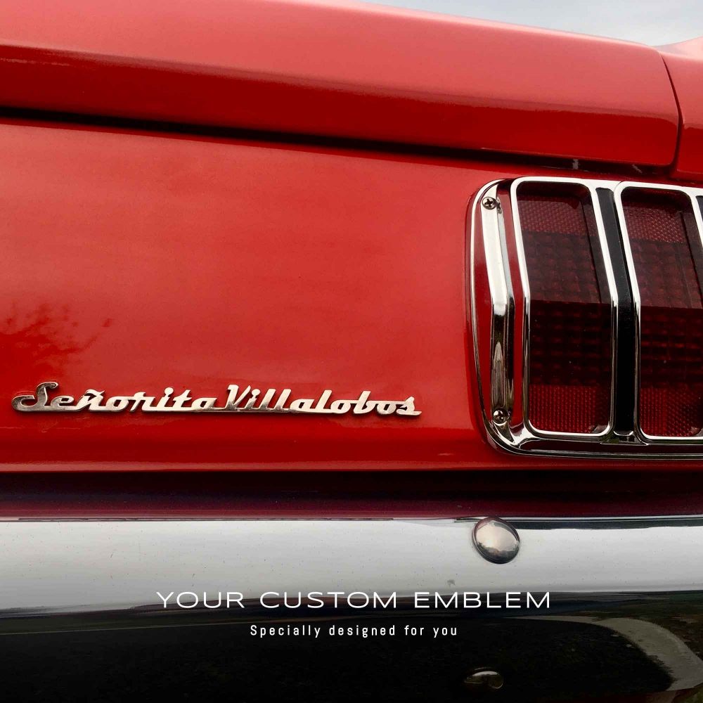 Señorita Villalobos Emblem in stainless steel mirror finishing
