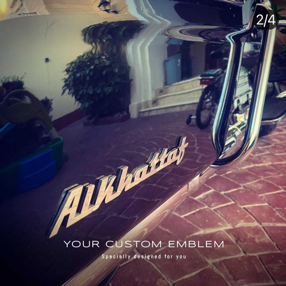 Alkhattaf custom Emblem in stainless steel mirror finishing