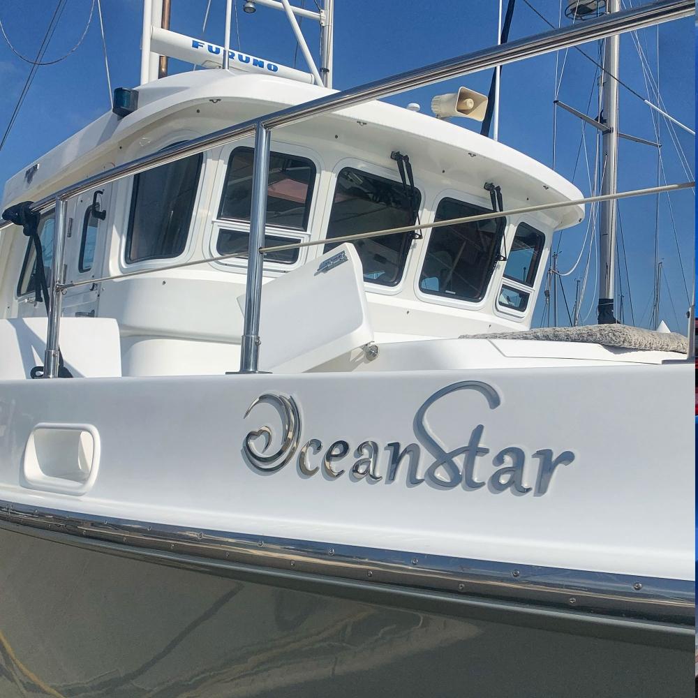 Ocean Star oversized Emblem in stainless steel mirror finishing - design done as sent