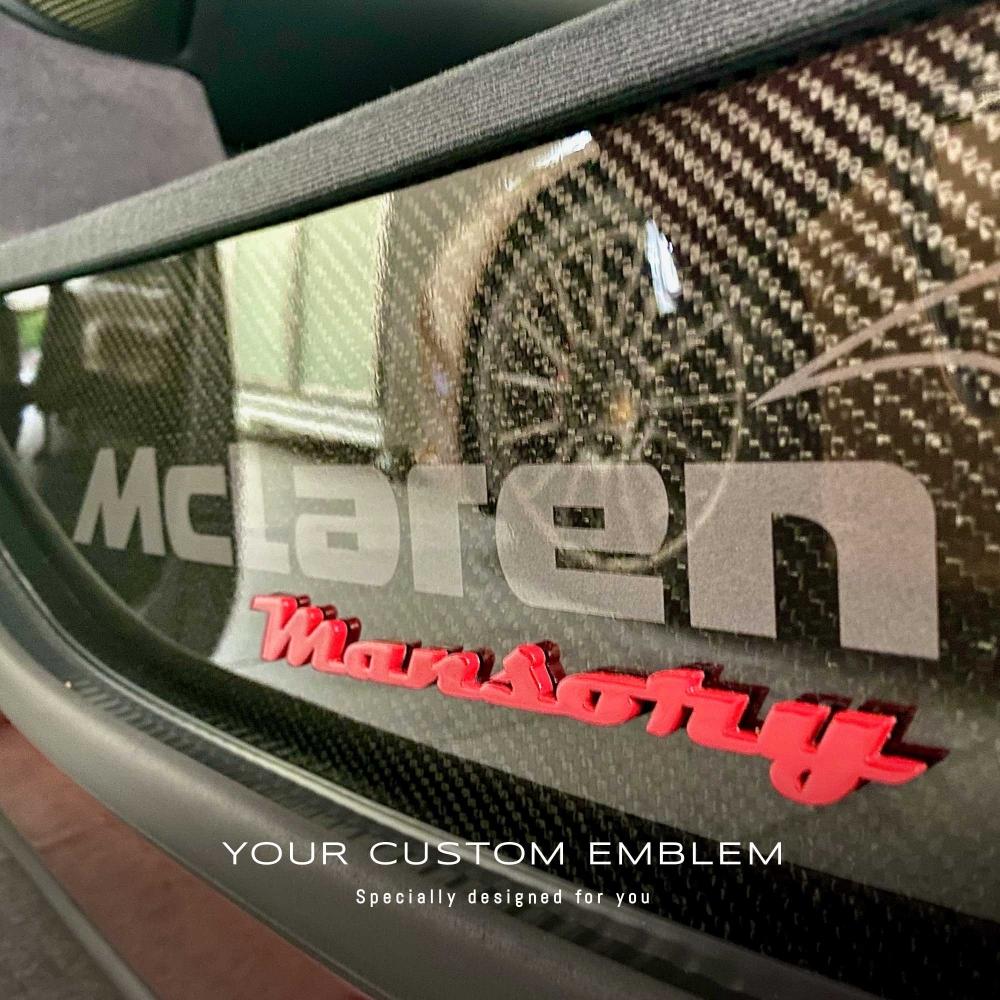 'Mansory' Emblem installed on the Mclaren MP4-12C