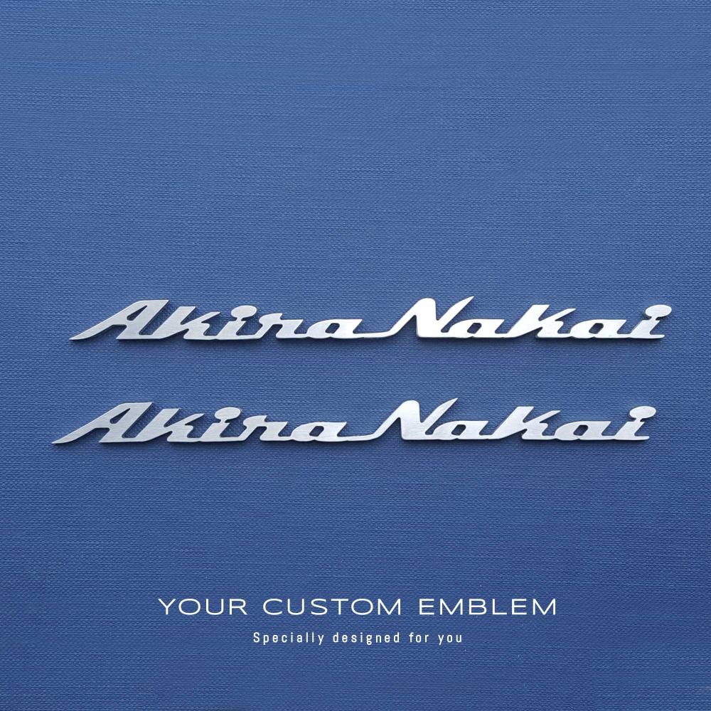 Akira Nakai founder of Rauh-Welt Begriff (RWB) - Porsche tuning company - Emblem made of 100% Stainless Steel