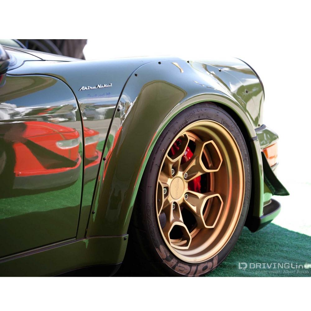 Akira Nakai founder of Rauh-Welt Begriff (RWB) - Porsche tuning company - Emblem made of 100% Stainless Steel - Porsche built by RWB Atlanta - Photo credit: Albert Roxas