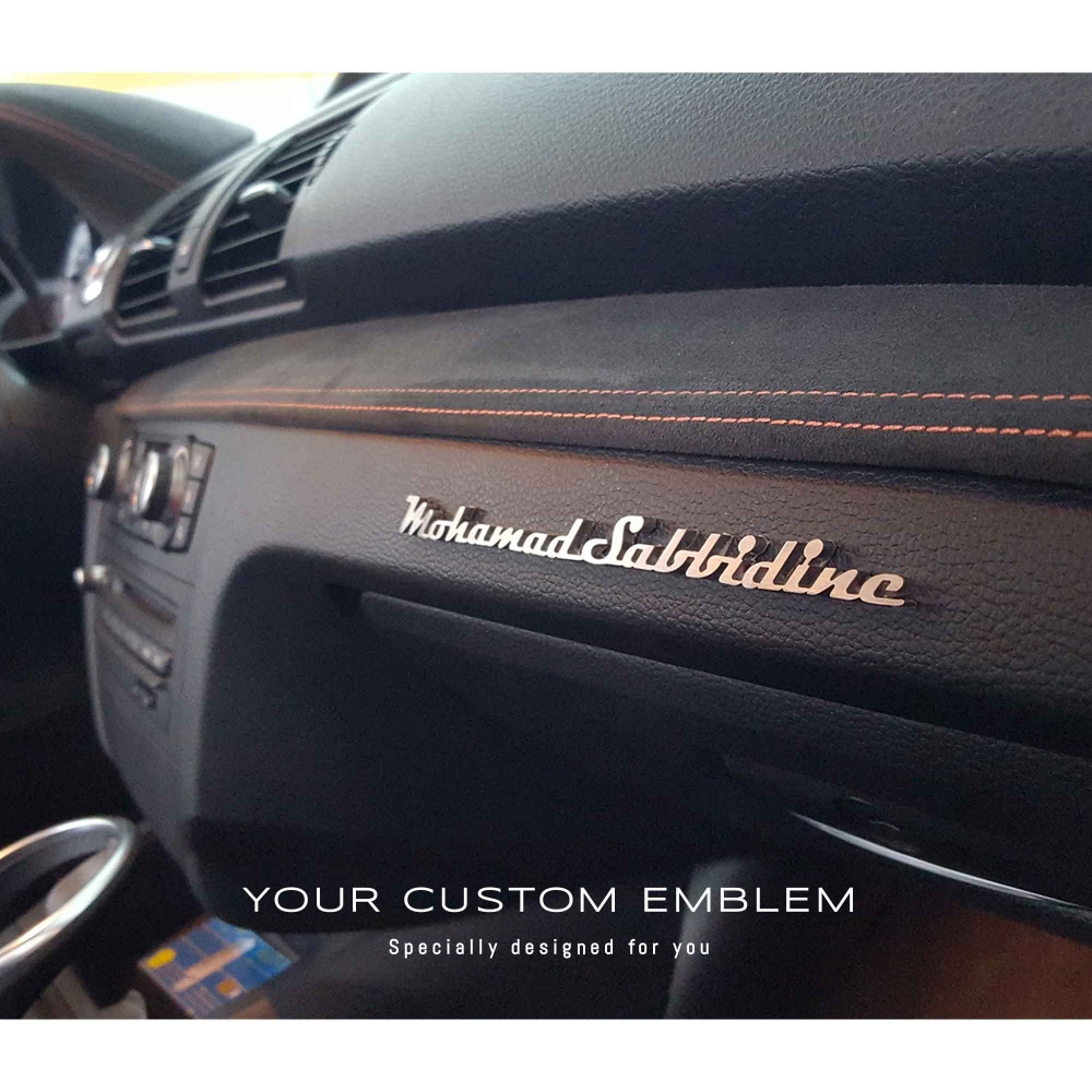 Mohamad Sabbidine's Emblem inside his BMW 1M