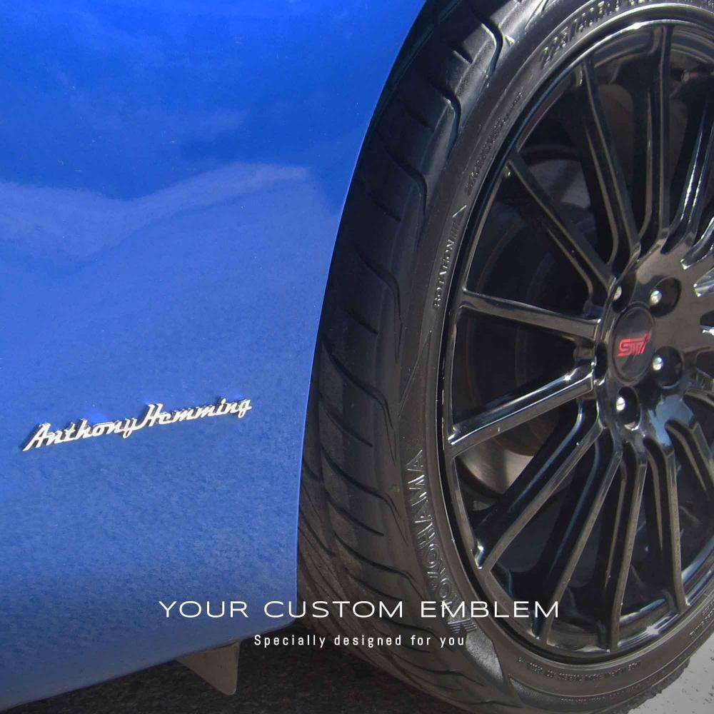 Anthony Hemming's Emblem on his Subaru BRZ