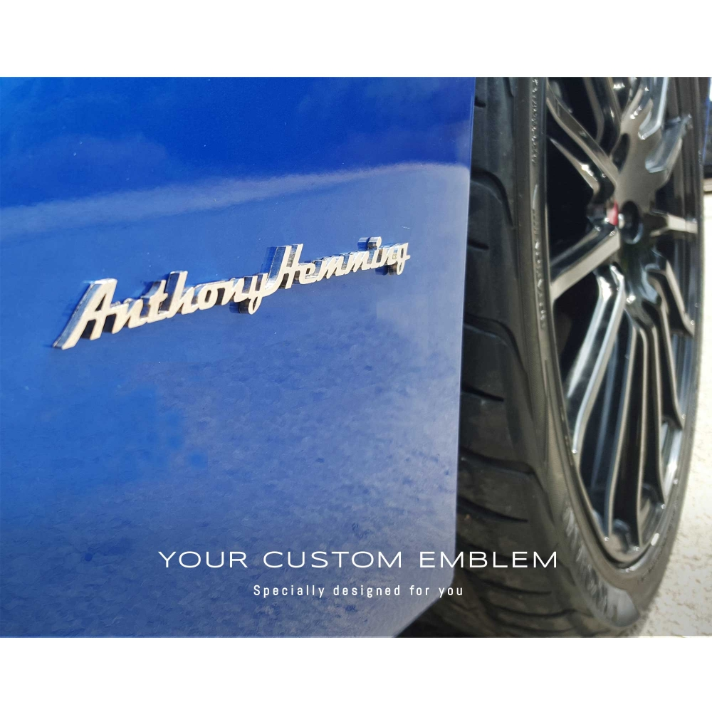 Anthony Hemming's Emblem on his Subaru BRZ - Made of 100% Stainless Steel