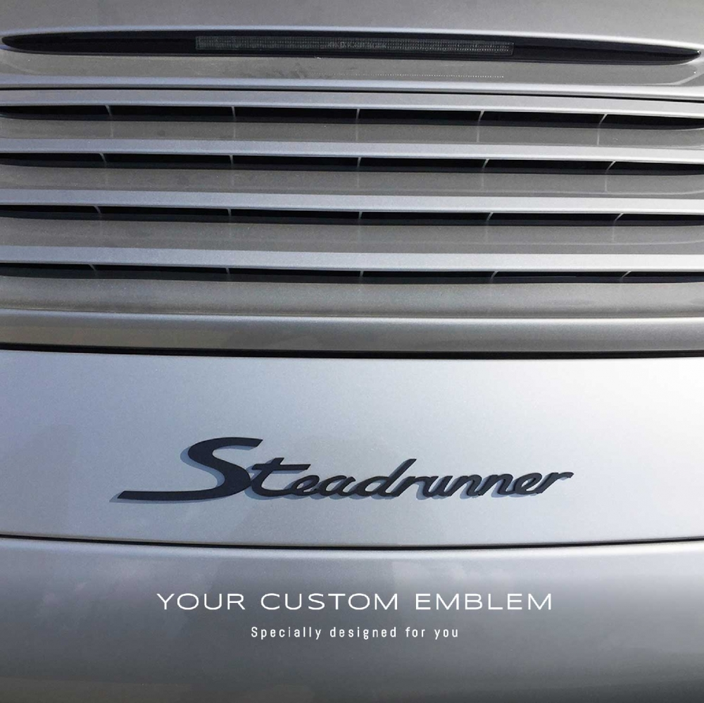 Steadrunner Custom Made Emblem Painted in Dark Grey - Size and Design done as requested