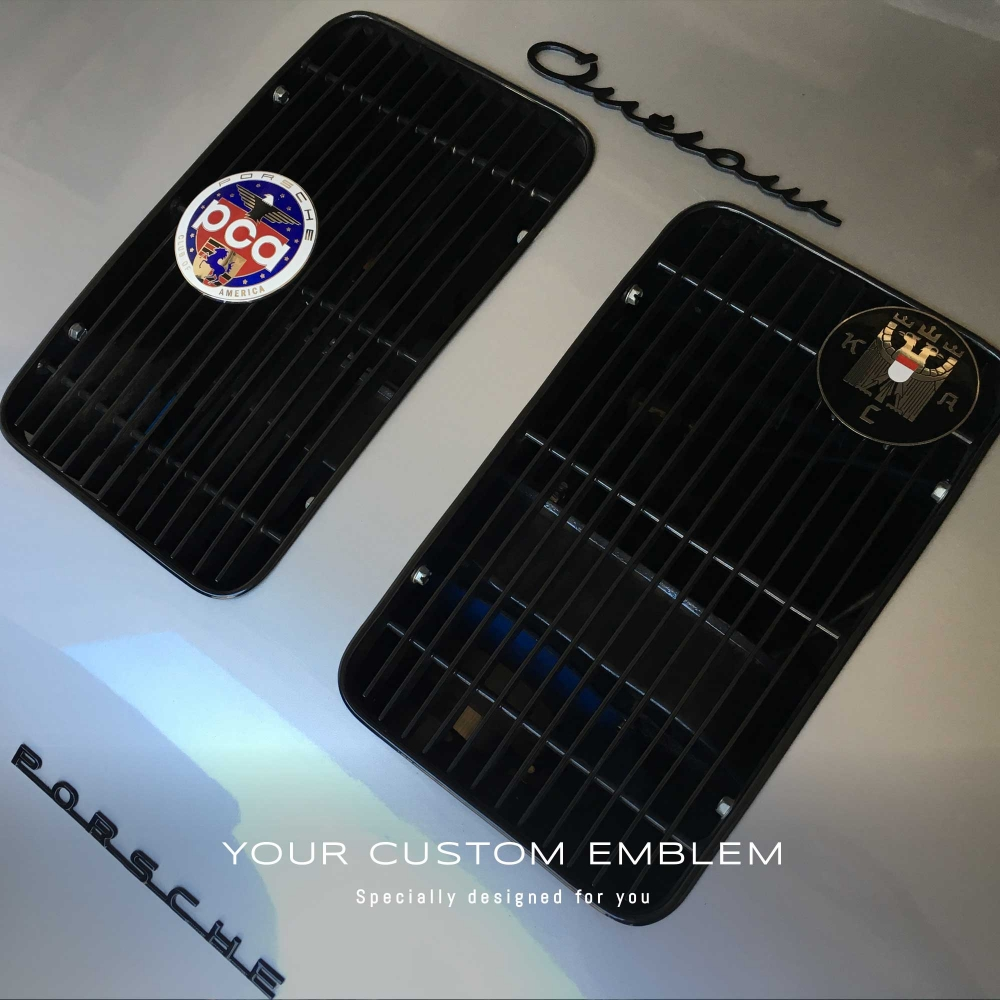 Porsche 'Outlaw' Emblem Painted in Black - Design done as requested