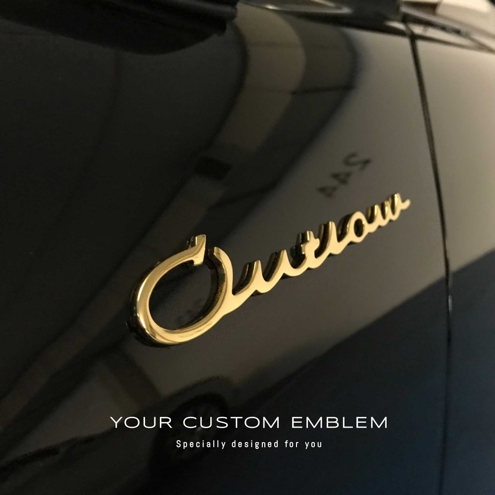 Porsche Outlaw Emblem Gold Plated - Design done as requested